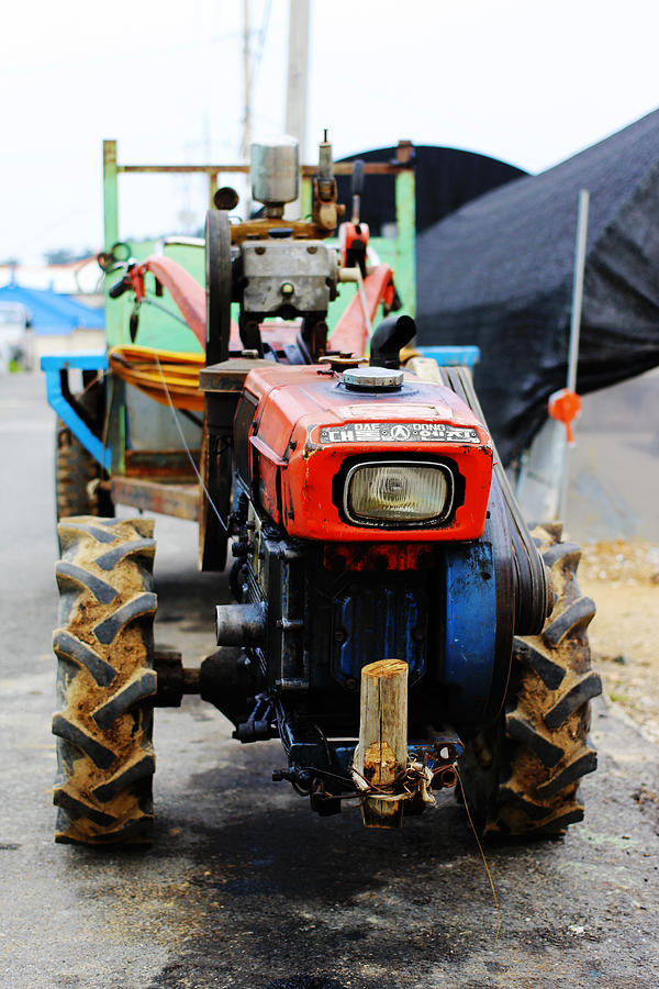 Rural Photograph - Rural Korean Tractor by Sally Bucey