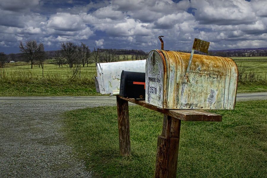 Rural Mailboxes Along A Country Road Photograph by Randall ...