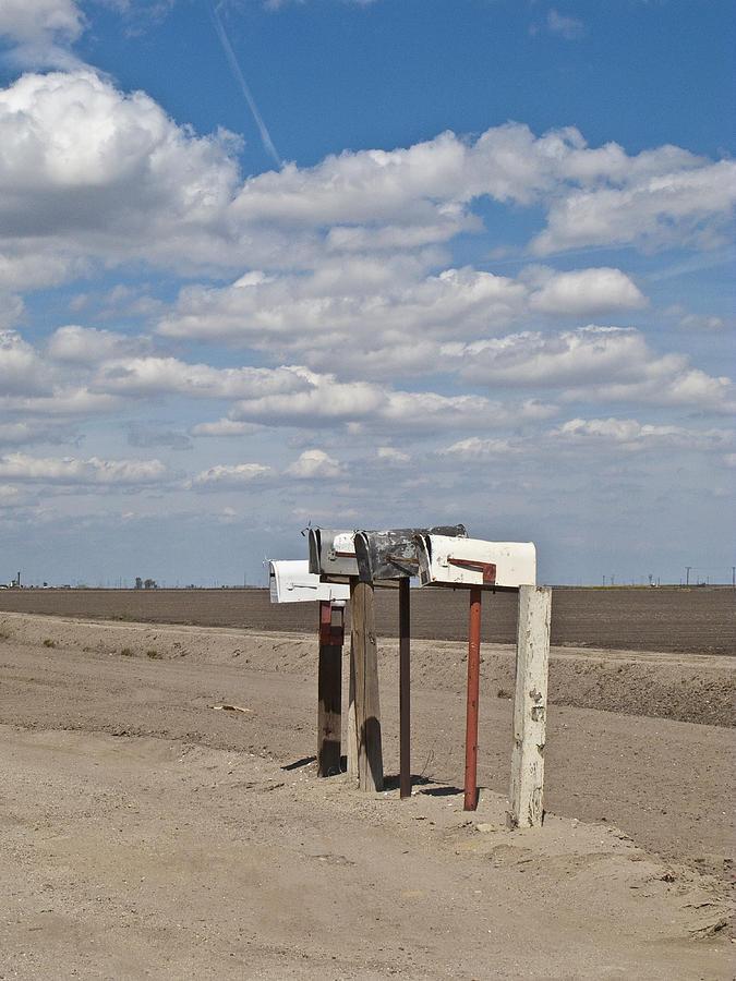 California Photograph - Rural Mailboxes by David Litschel