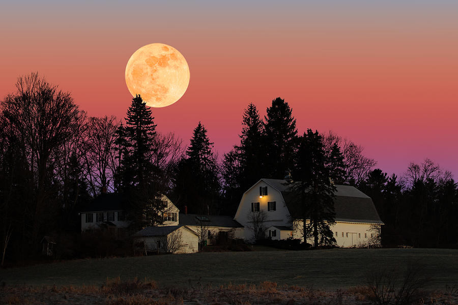 Rural Moonrise by Larry Landolfi