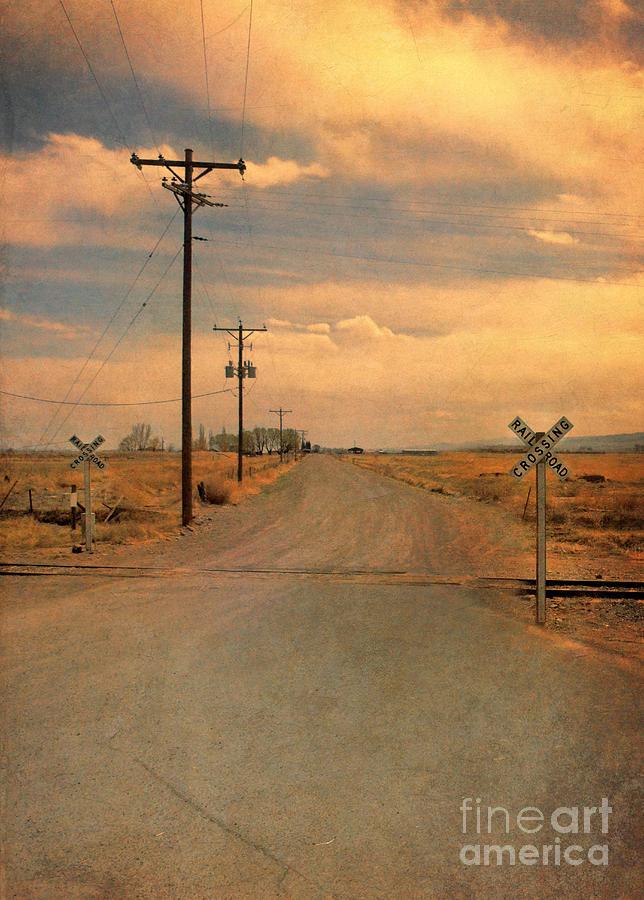 Road Photograph - Rural Railroad Crossing by Jill Battaglia