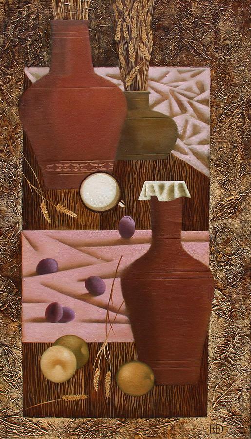 Still Life Painting - Rural Still Life by Nadia Egorova
