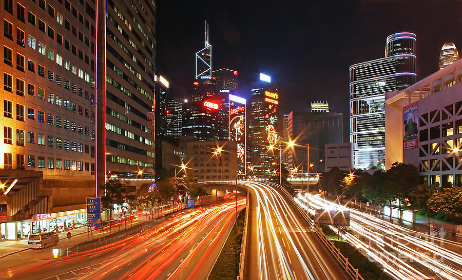 Hong Kong Photograph - Rush Hour In Hong Kong by Lars Ruecker