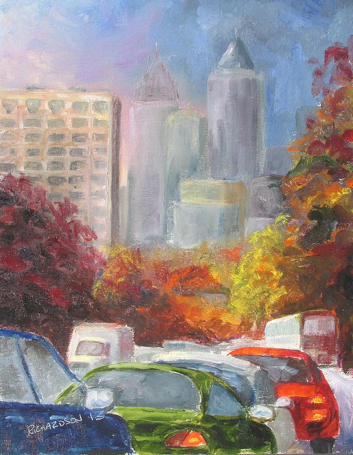Atlanta Painting - Rush Hour by Susan Richardson