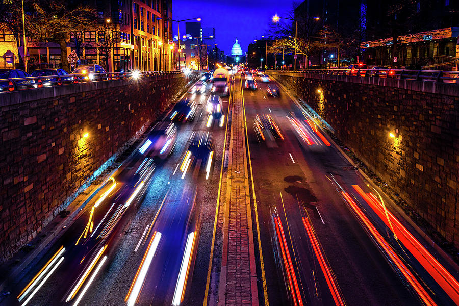 Horizontal Photograph - Rush Hour Traffic On North Capitol Show by Panoramic Images