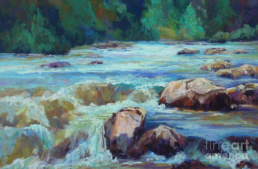 Water Painting - Rush by Virginia Dauth