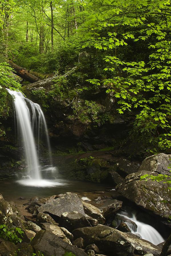 Grotto Falls Photograph - Rushing Falls by Andrew Soundarajan