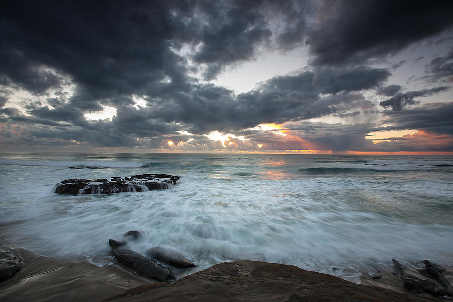 Beach Photograph - Rushing Seas by Peter Tellone