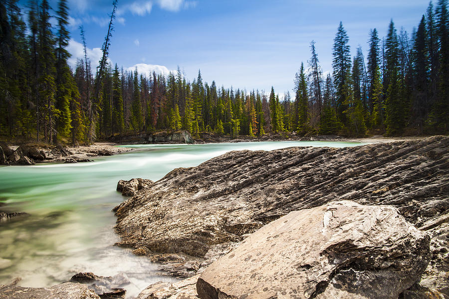 Rockies Photograph - Rushing Water by Chris Halford