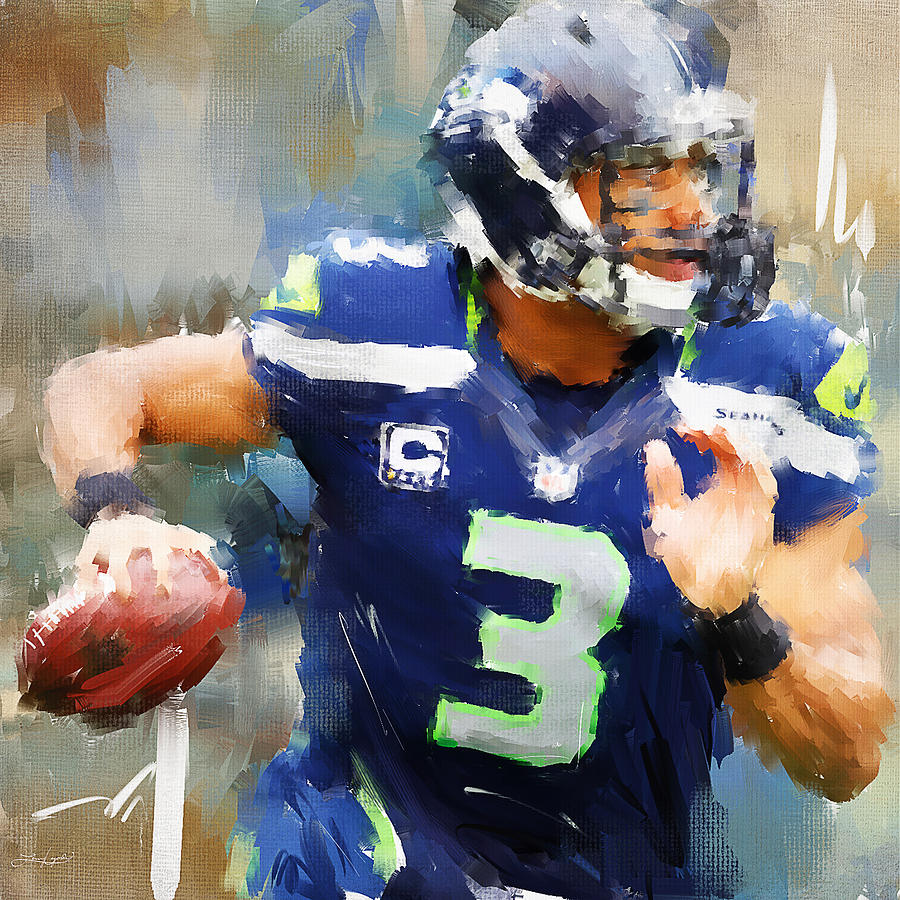Russell Wilson Painting - Russell Wilson by Lourry Legarde