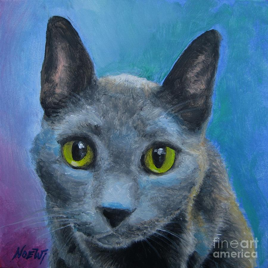 Russian Blue Painting by Jindra Noewi