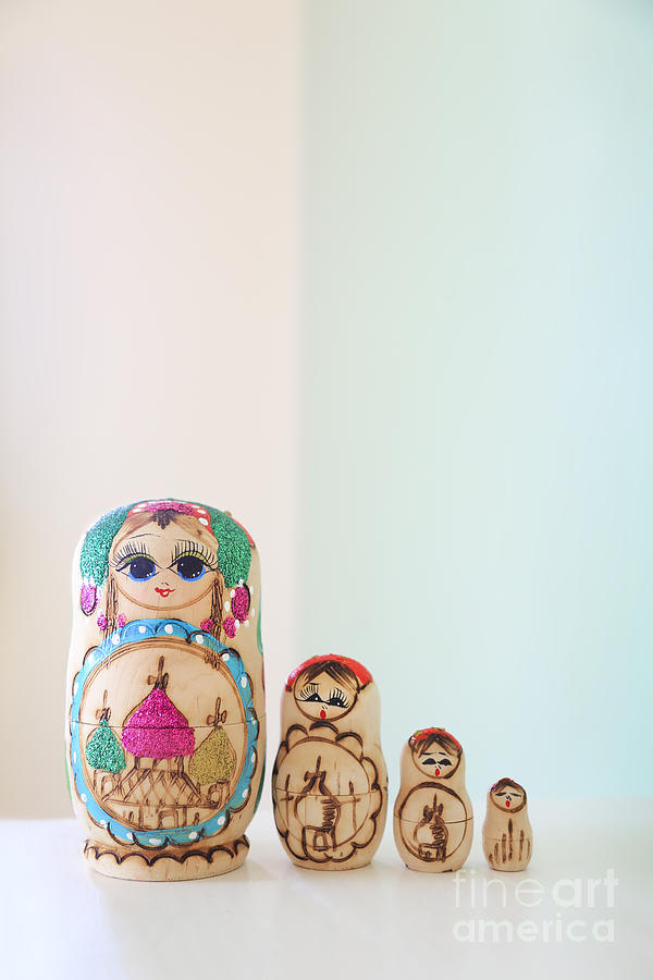 Russian Photograph - Russian Dolls by Evelina Kremsdorf