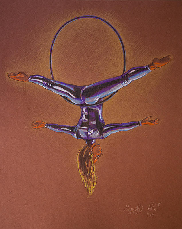 Girl Drawing - Russian Splits by MAD Art and Circus