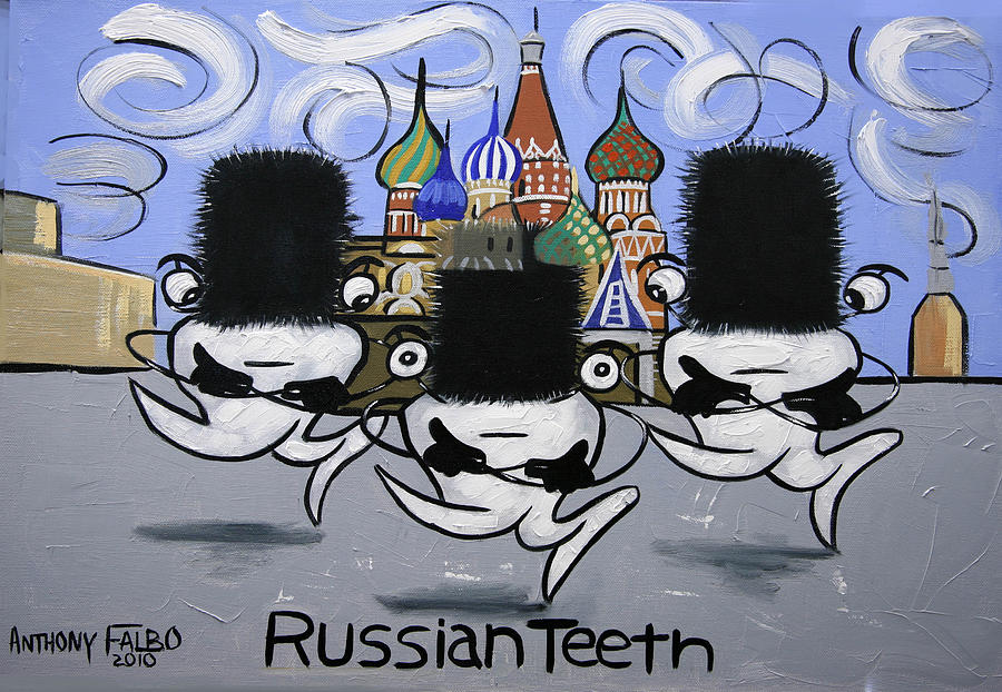 Poster Painting - Russian Tooth by Anthony Falbo