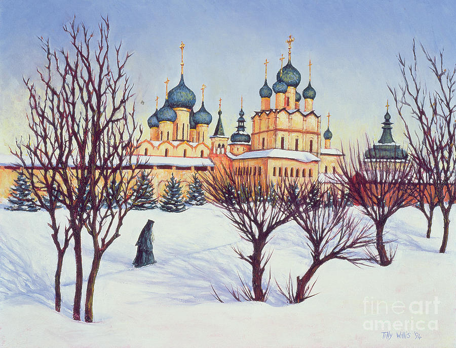 Russian Winter Painting - Russian Winter by Tilly Willis
