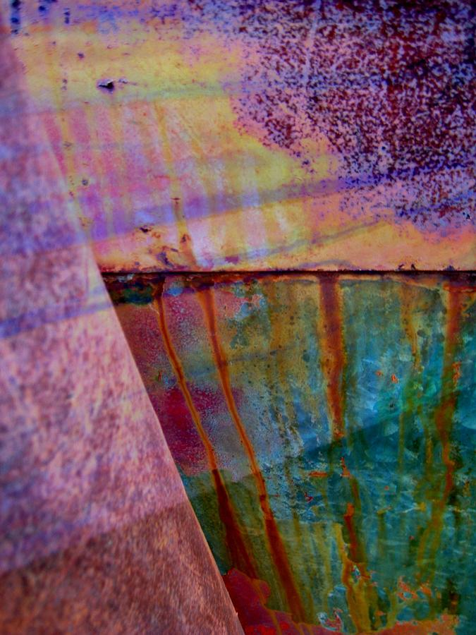 Metal Photograph - Rust And Paint by Shirley Sirois