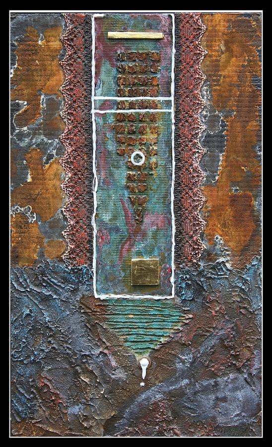 Malerei Mixed Media - Rust-art 02 by Gertrude Scheffler
