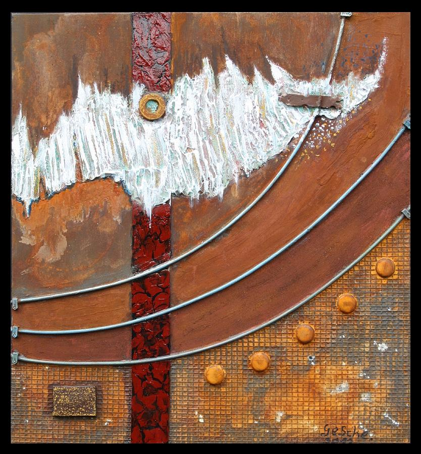 Abstrakt Mixed Media - Rust Art 04 by Gertrude Scheffler