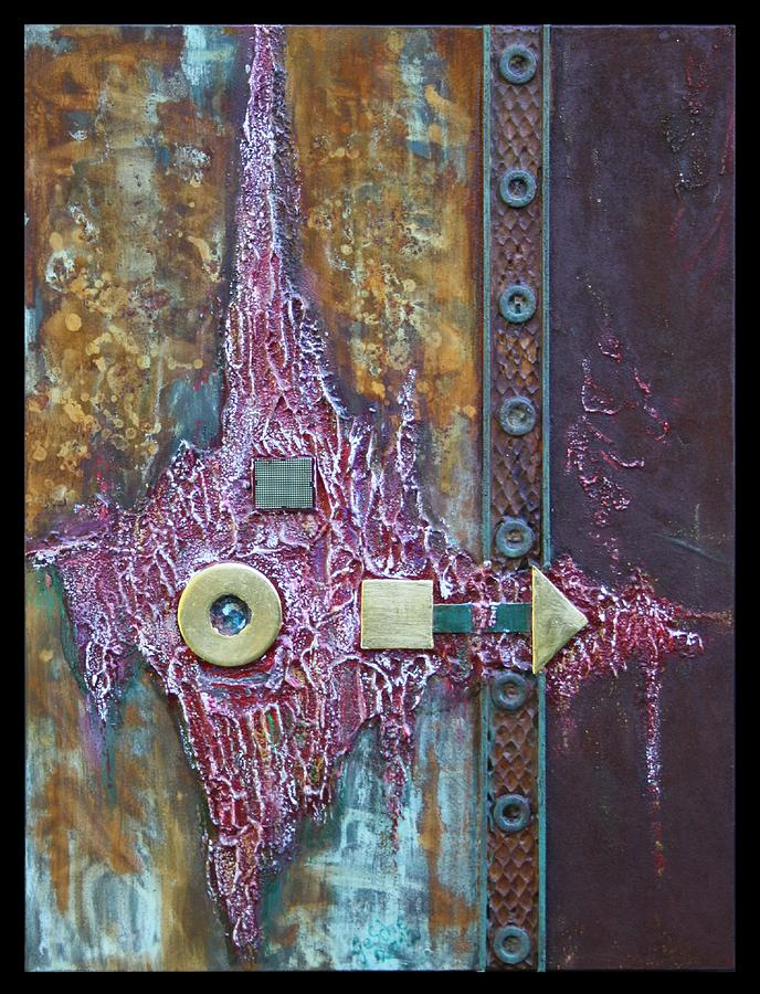 Abstrakt Relief - Rust-art by Gertrude Scheffler