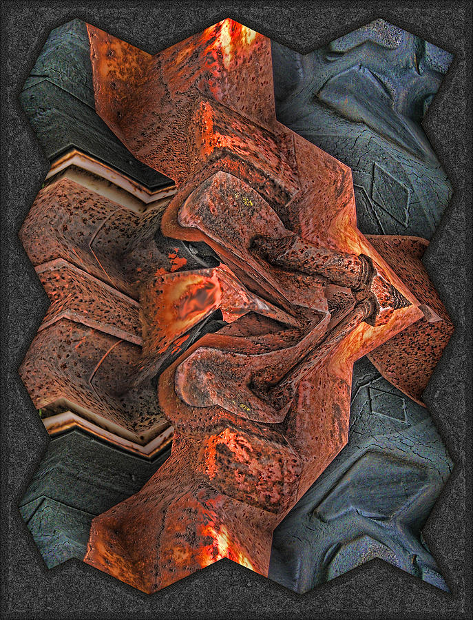 Abstract Digital Art - Rust Flow by Wendy J St Christopher