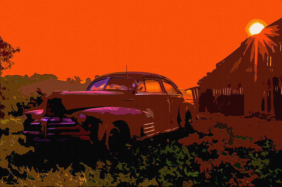 1950s Digital Art - Rust In Peace 4 by Brian Stevens