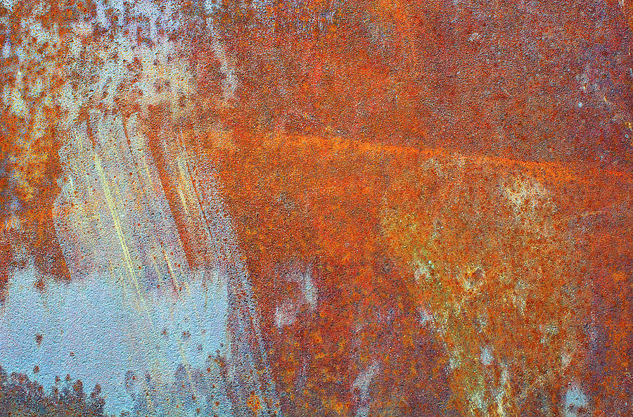 Rust On A Metal Surface Photograph by Rob Atkins