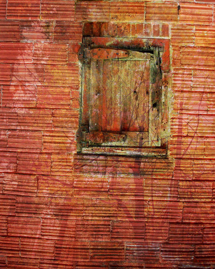 Old Photograph - Rust Wall by Lyn  Perry