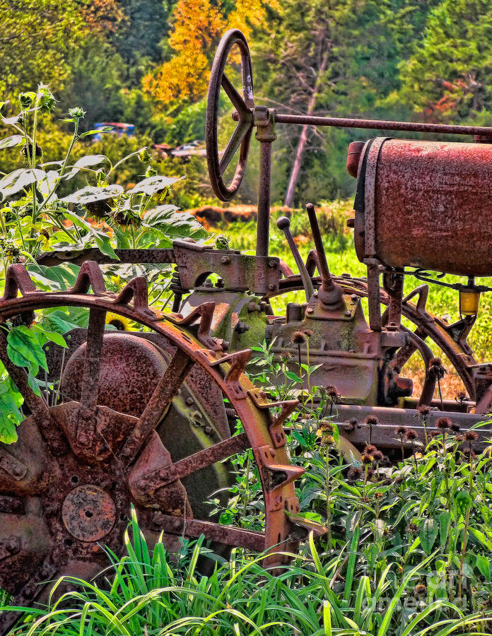 Tractor Photograph - Rusted by Colleen Kammerer
