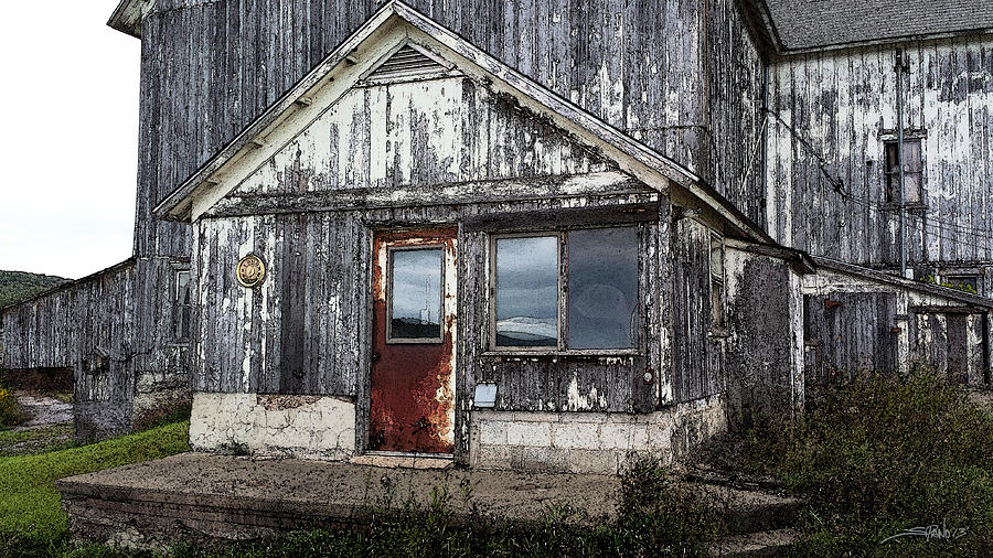 Rusted Farmhouse Door by Michael Spano