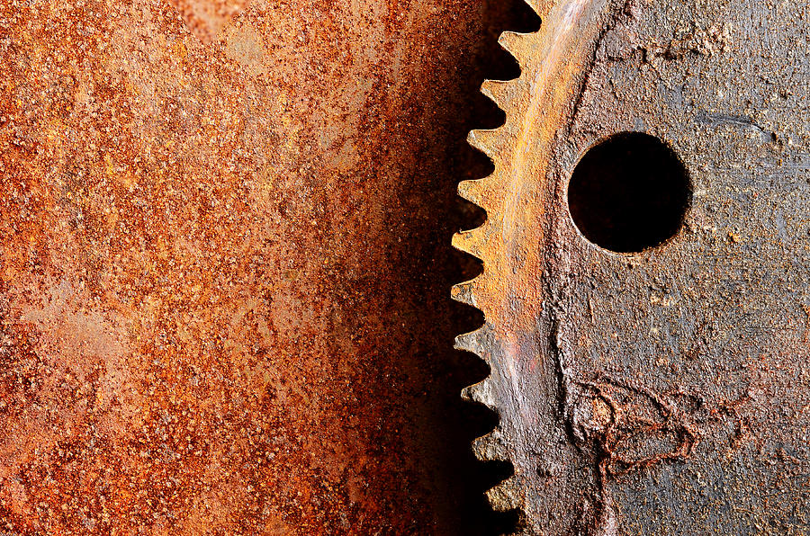 Metal Photograph - Rusted Gear by Jim Hughes
