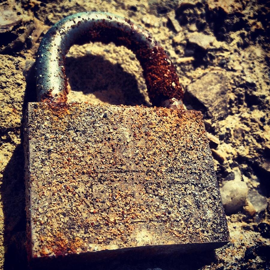 Lock Photograph - Rusted Lock by Troy Lewis