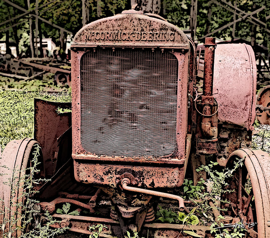 Rusted Mc Cormick-Deering Tractor by Michael Spano