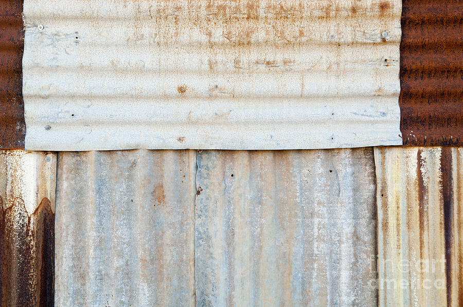 Abstract Photograph - Rusted Metal Background by Tim Hester