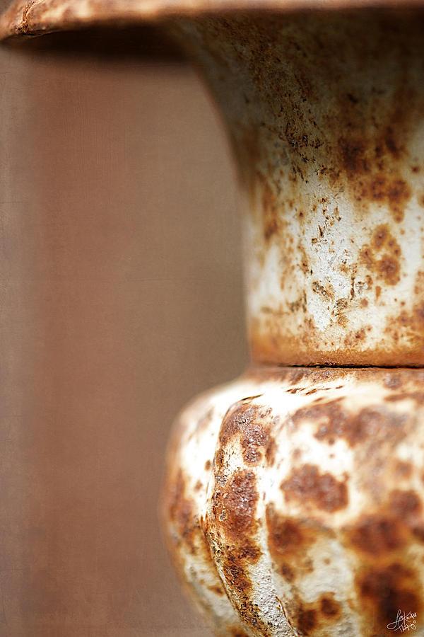 Lisa Knechtel Photograph - Rusted Urn by Lisa Knechtel