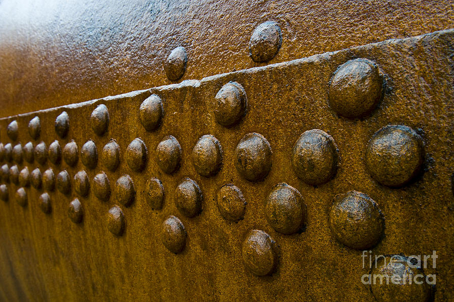 Rivet Photograph - Rusted Whaling Machinery by John Shaw