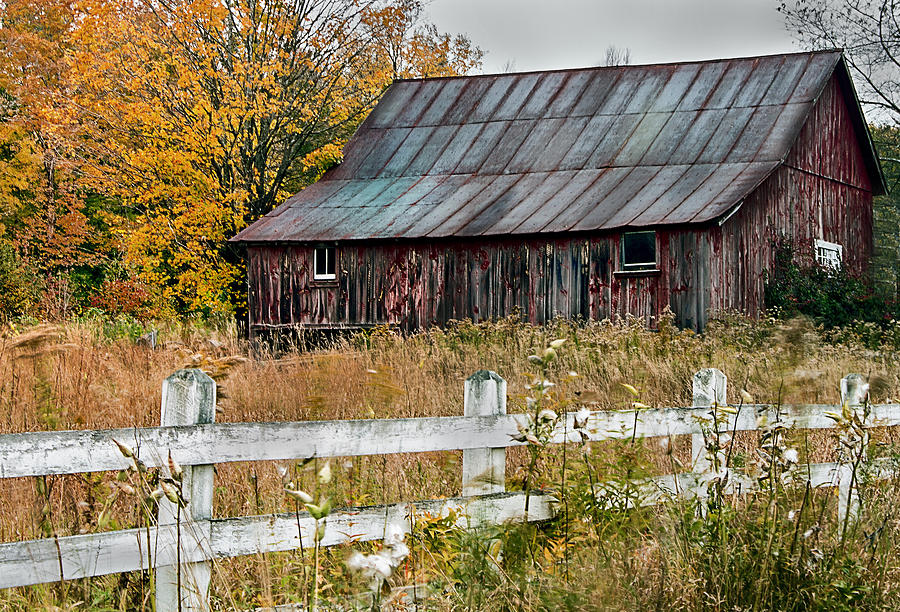 Old Barn Photograph - Rustic Berkshire Barn by John Vose