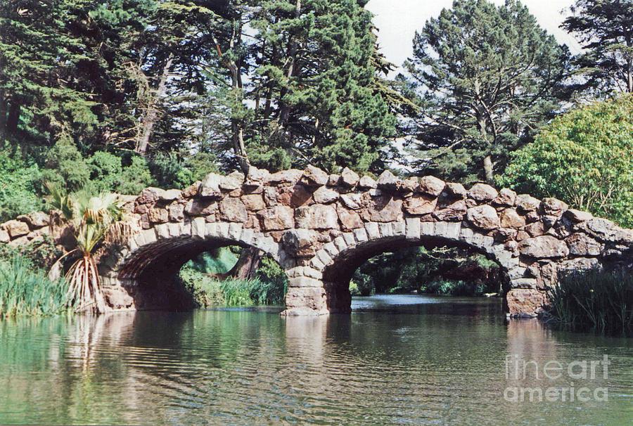 Rustic Bridge At Stow Lake In Golden Gate Park In San