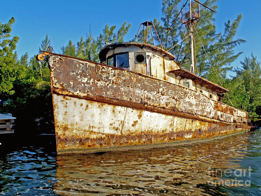 Tug Boat Photograph - Rustic by Carey Chen