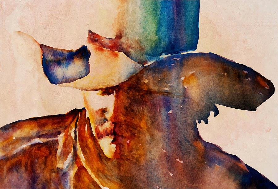 Rustic Cowboy Painting By Jani Freimann