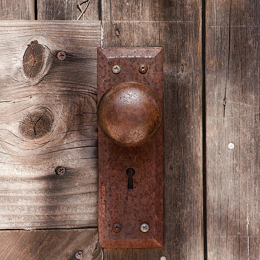 Genial Door Photograph   Rustic Door Knob By Art Block Collections