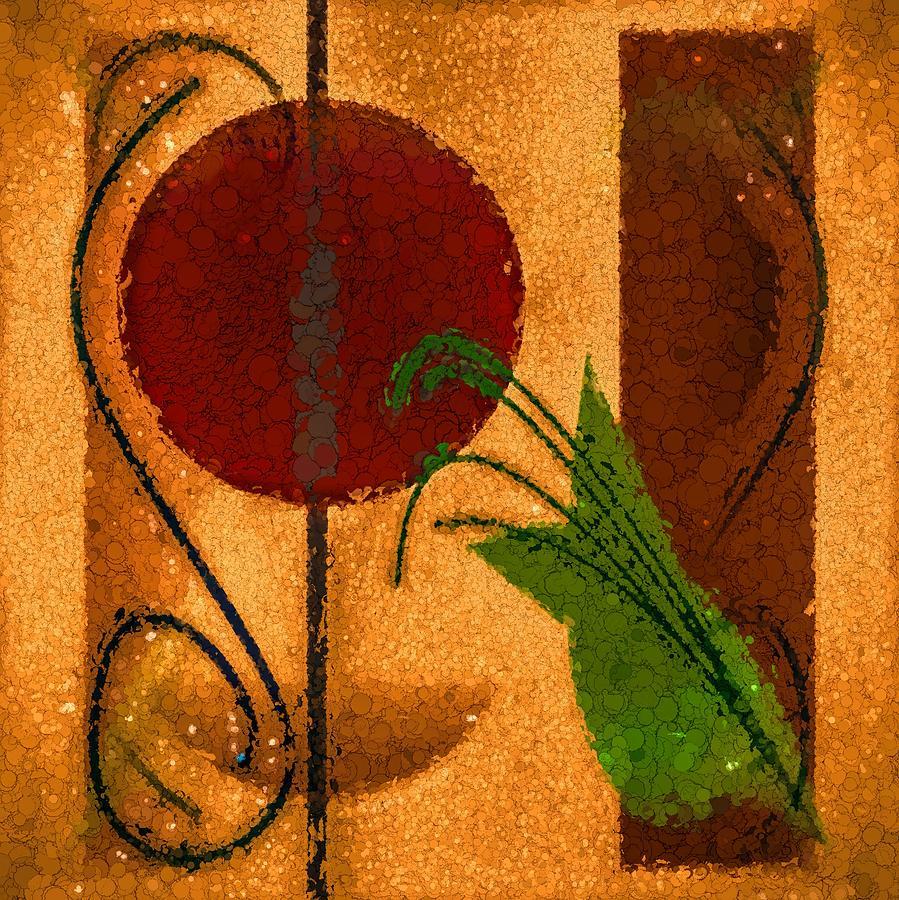 Rustic Elegance Geometric Autumn Abstract by Tracie Kaska
