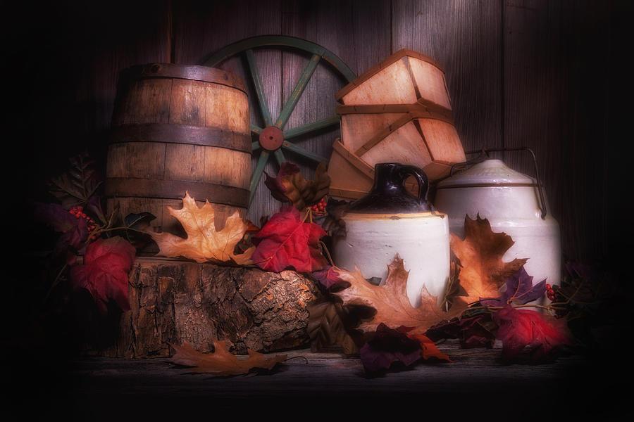Autumn Photograph - Rustic Fall Still Life by Tom Mc Nemar