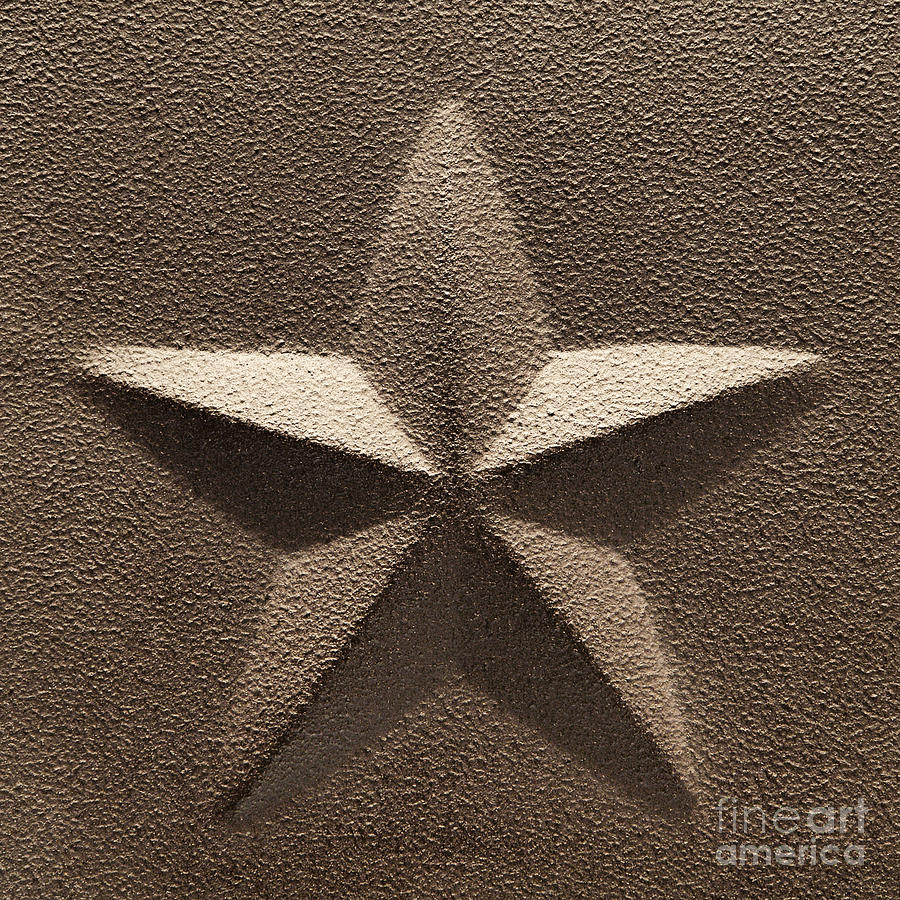 Five Photograph - Rustic Five Point Star by Olivier Le Queinec