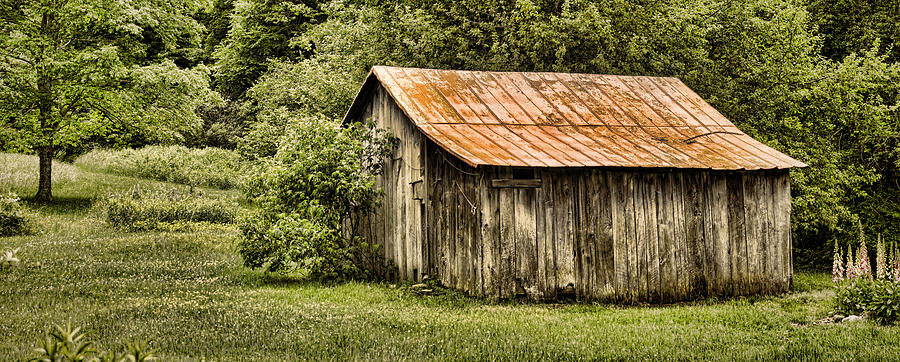 Barn Photograph - Rustic by Heather Applegate