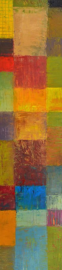 Abstract Painting - Rustic Layers 2.0 by Michelle Calkins