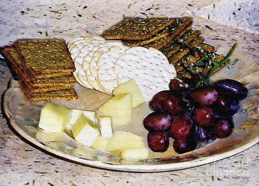 Cheese Painting - Rustic Repast by RC DeWinter