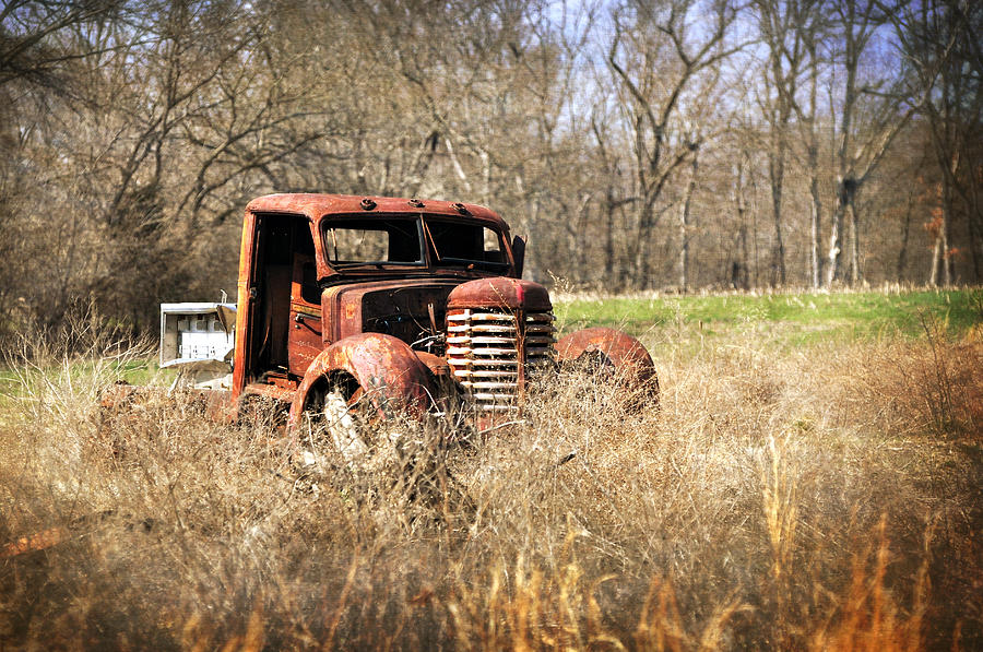 Truck Photograph - Rusting Away by Marty Koch