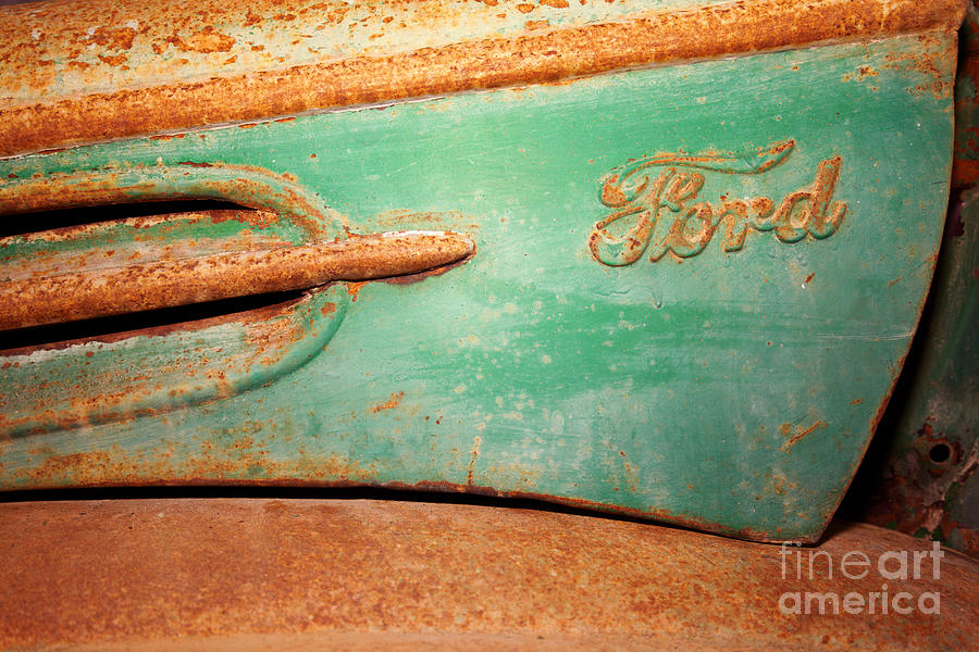 Ford Photograph - Rusting Ford by James Brunker