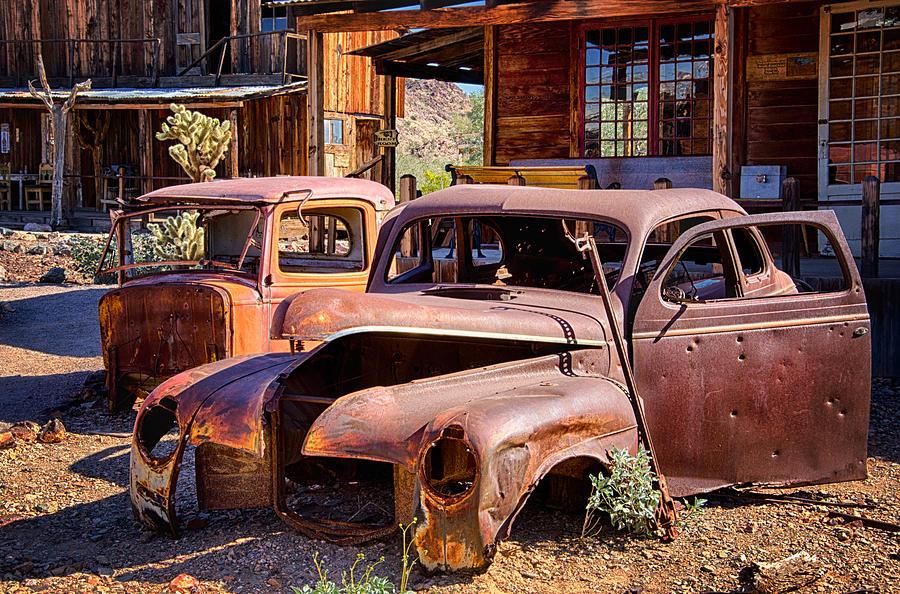 Rusty Cars Photograph - Rusty Cars  by Saija  Lehtonen