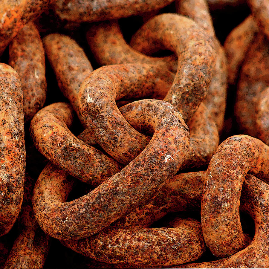 Rusty Chain Photograph by Art Block Collections